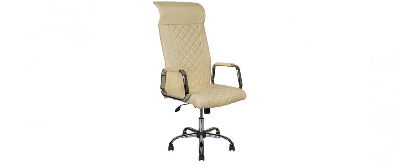 Кресло офисное AV 136 из экокожи цвет слоновая кость Модель 999Кресло офисное AV 136 из экокожи цвет слоновая кость Модель 999. Артикул Д000731<br>