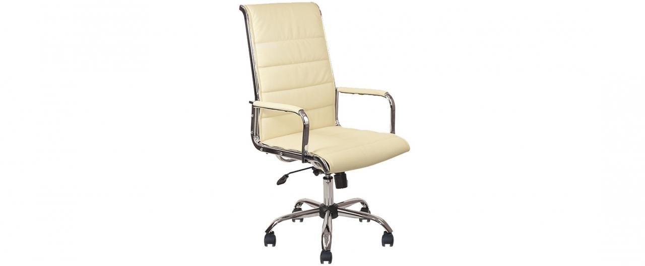 Кресло офисное AV 137 из экокожи цвет слоновая кость Модель 999Кресло офисное AV 137 из экокожи цвет слоновая кость Модель 999. Артикул Д000734<br>