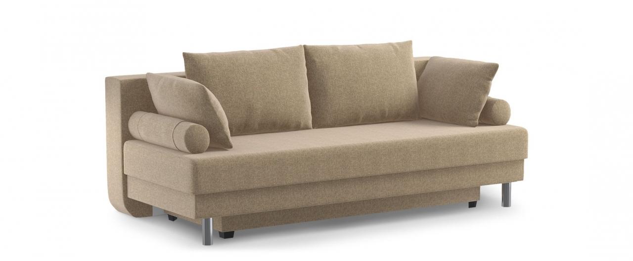 Диван прямой еврокнижка Палермо 020Гостевой вариант и полноценное спальное место. Размеры 205х90х87 см. Купить бежевый диван еврокнижка в интернет-магазине MOON TRADE.<br>