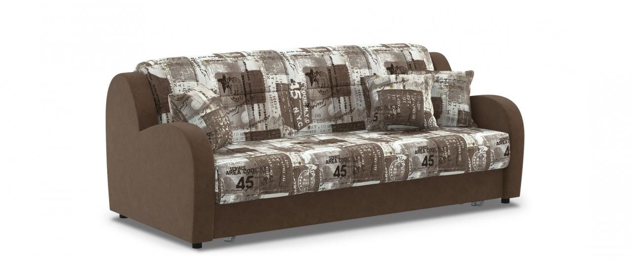 Диван прямой аккордеон Барон 022Гостевой вариант и полноценное спальное место. Размеры 213х104х88 см. Купить коричневый диван аккордеон в интернет-магазине MOON TRADE.<br>