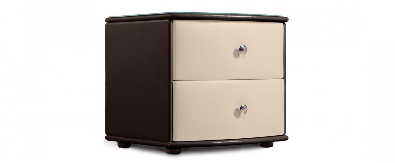 Купить Тумба прикроватная Люнетта-2 кофе/рожь Модель 396 в интернет магазине корпусной и мягкой мебели для дома и дачи