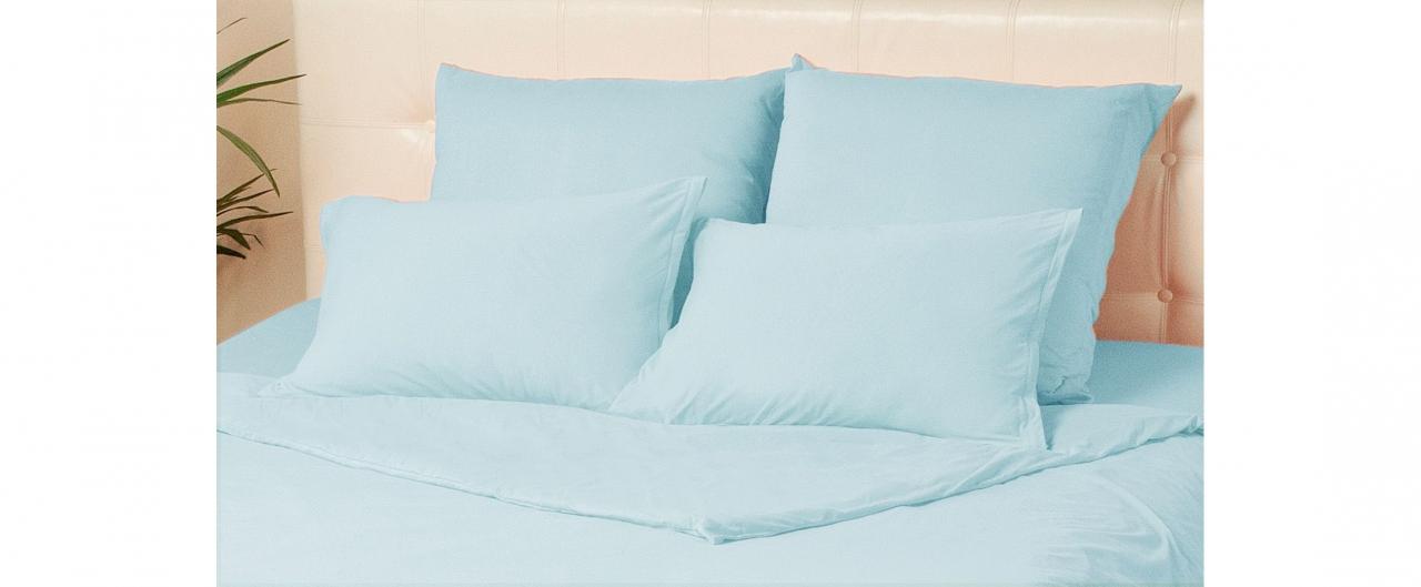 Комплект наволочек на молнии 70х70 голубого цвета Violett Модель 4002Комплект наволочек на молнии 70х70 голубого цвета Violett Модель 4002. Артикул К000701<br>