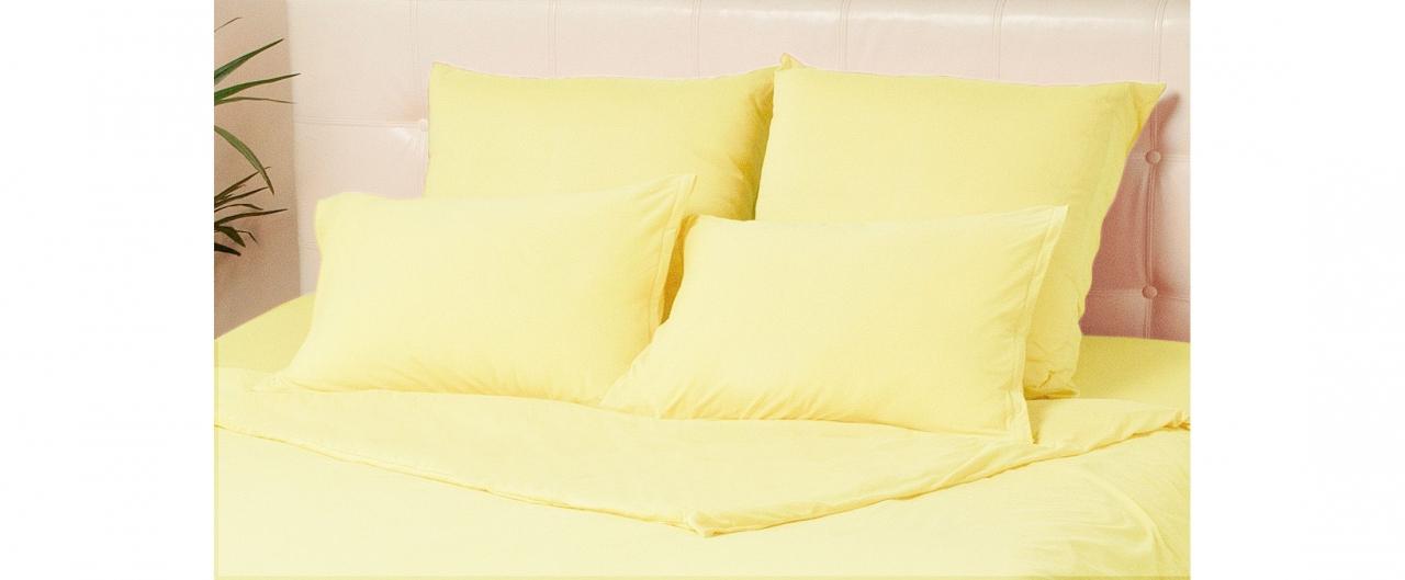 Комплект наволочек на молнии 50х70 желтого цвета Violett Модель 4002Комплект наволочек на молнии 50х70 желтого цвета Violett Модель 4002. Артикул К000692<br>