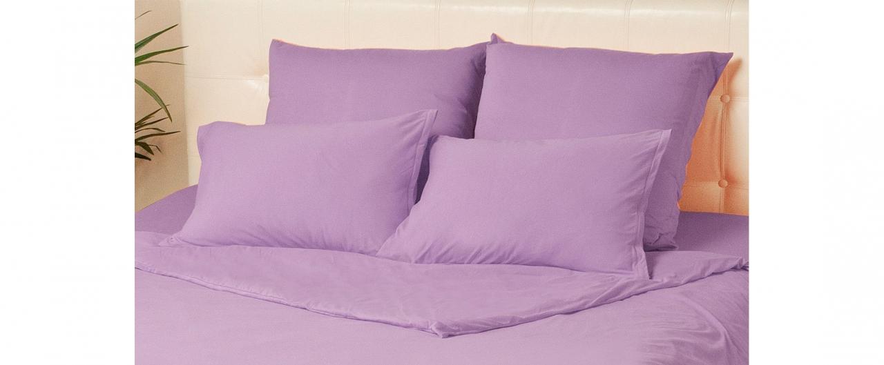 Комплект наволочек на молнии 50х70 сиреневого цвета Violett Модель 4002Комплект наволочек на молнии 50х70 сиреневого цвета Violett Модель 4002. Артикул К000702<br>