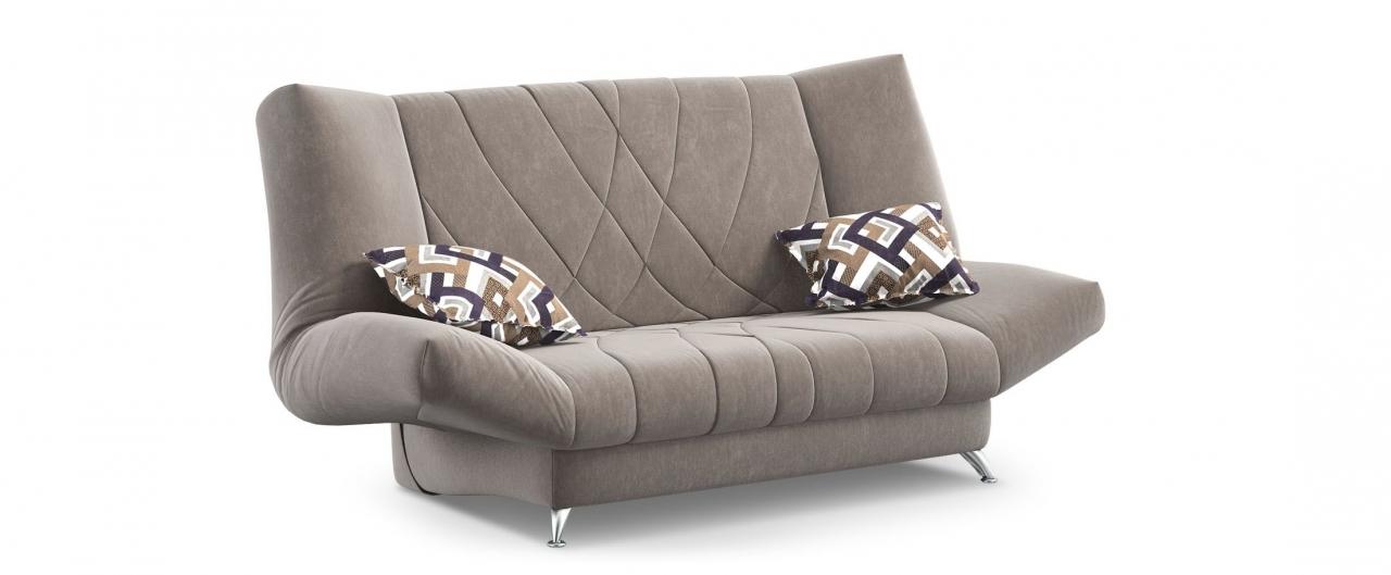 Диван прямой клик-кляк Санта Next 036Гостевой вариант и полноценное спальное место. Размеры 192х101х108 см. Купить коричневый диван клик-кляк в интернет-магазине MOON-TRADE.RU.<br>