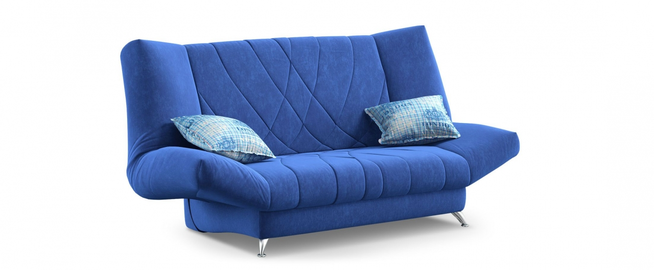 Диван прямой клик-кляк Санта Next 036Гостевой вариант и полноценное спальное место. Размеры 192х101х108 см. Купить синий диван клик-кляк в интернет-магазине MOON-TRADE.RU.<br>