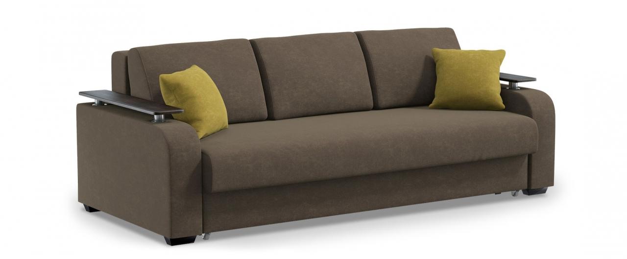 Диван прямой еврокнижка Марракеш 044Гостевой вариант и полноценное спальное место. Размеры 237х108х88 см. Купить коричневый диван еврокнижка в интернет-магазине MOON-TRADE.RU.<br>