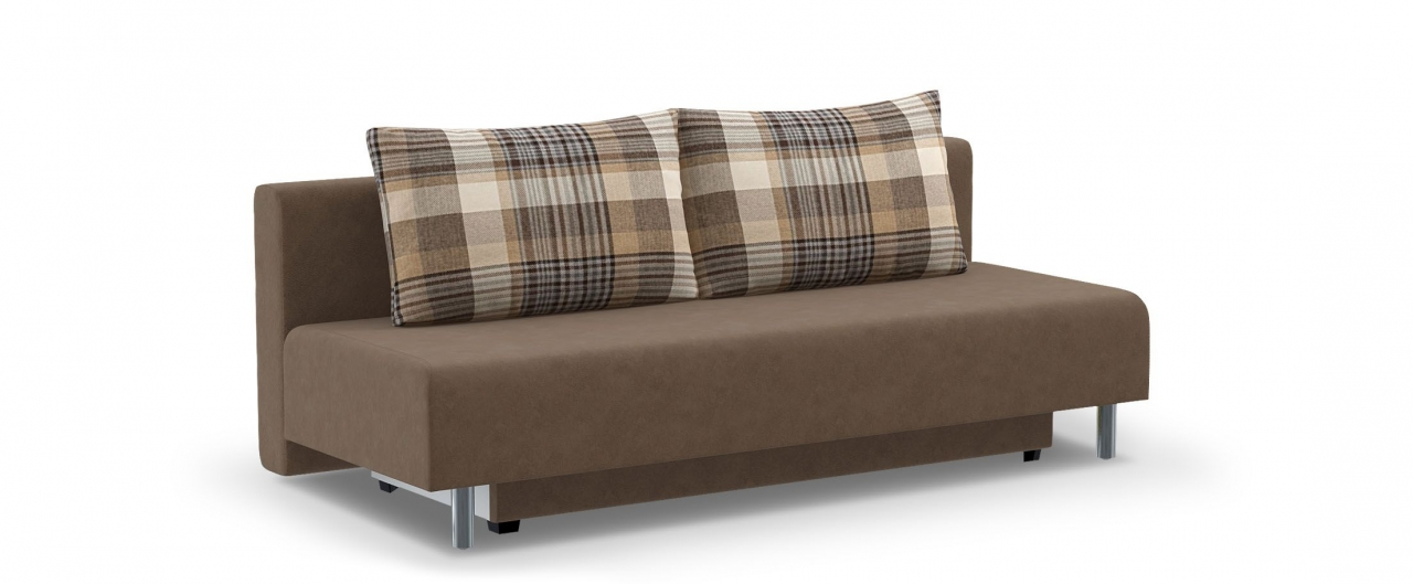 Диван прямой еврокнижка Парма 049Гостевой вариант и полноценное спальное место. Размеры 205х88х87 см. Купить коричневый диван еврокнижка в интернет-магазине MOON-TRADE.RU.<br>