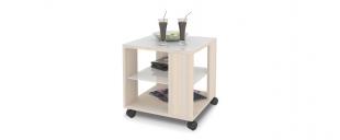 Журнальный стол Mayer 2 Модель 341Стильный четырёхколёсный стол легко передвигается по любому покрытию. Столешница из закалённого стекла, плюс две дополнительные полочки. Гарантия 18 месяцев. Артикул: Д000052.<br>