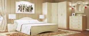 Спальня Афина-4 Модель 513Минимальный набор из самого необходимого. Цвет клён. Гарантия 18 месяцев. Доставка от 1 дня.<br>