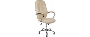 Кресло офисное AV 119 из экокожи цвет слоновая кость Модель 999Кресло офисное AV 119 из экокожи цвет слоновая кость Модель 999. Артикул Д000699<br>