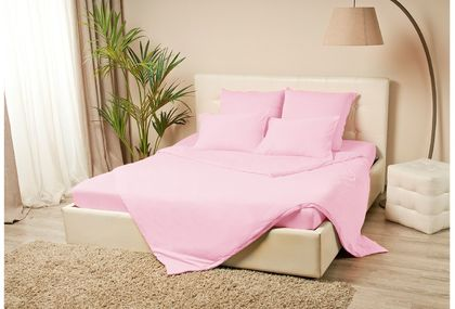 Простыня трикотажная на резинке 120х200 розового цвета Violett Модель 4000Простыня трикотажная на резинке 120х200 Violett Модель 4000. Артикул К000629<br>