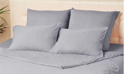 Комплект наволочек на молнии 70х70 цвета серый меланж Violett Модель 4002Комплект наволочек на молнии 70х70 цвета серый меланж Violett Модель 4002. Артикул К000711<br>